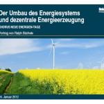 Energiesystem, dezentrale, Energieerzeugung