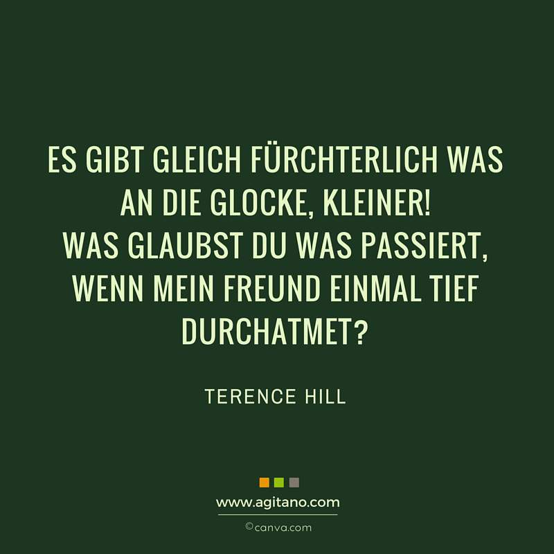 Terence Hill, Lustiges, Spruch