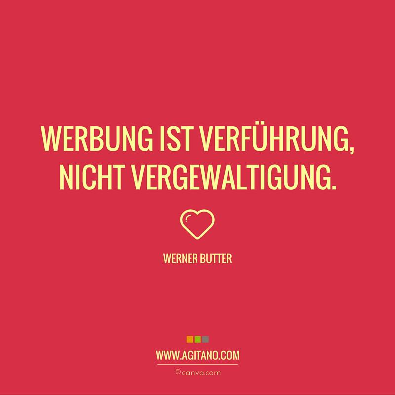 Werner Butter: Werbung ist Verführung   AGITANO