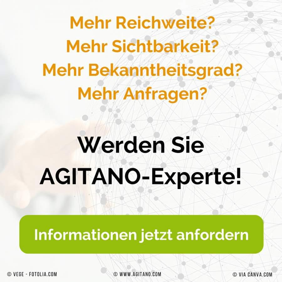 Werden Sie AGITANO-Experte!