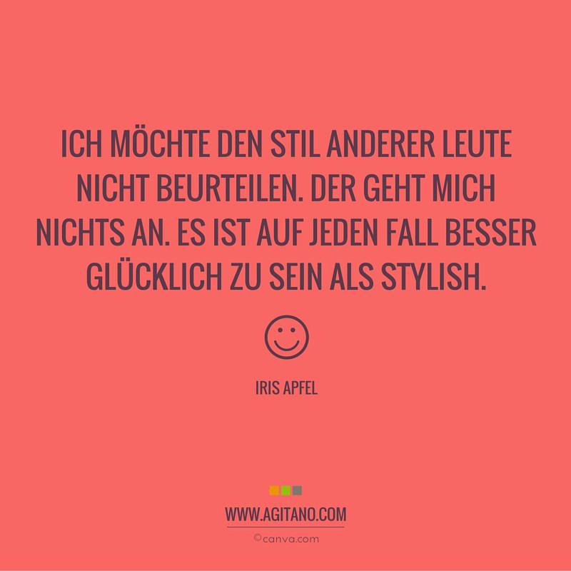 Stil, Menschen, Glück