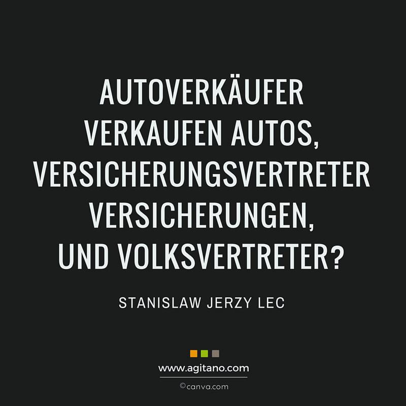 Stanislaw Jerzy Lec Autoverkaeufer Verkaufen Autos Agitano