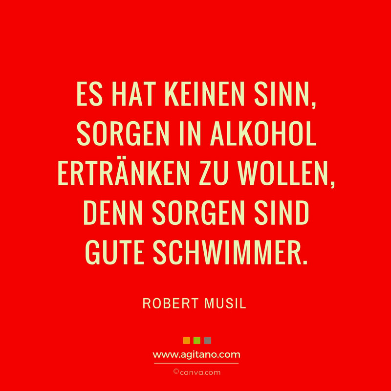 Leben, Motivation, Humor, Sorgen, Musil