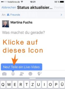 Martina Fuchs, Live-Streaming, Facebook, Social Media Sommer Camp