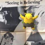 Pokémon vor Zeitung