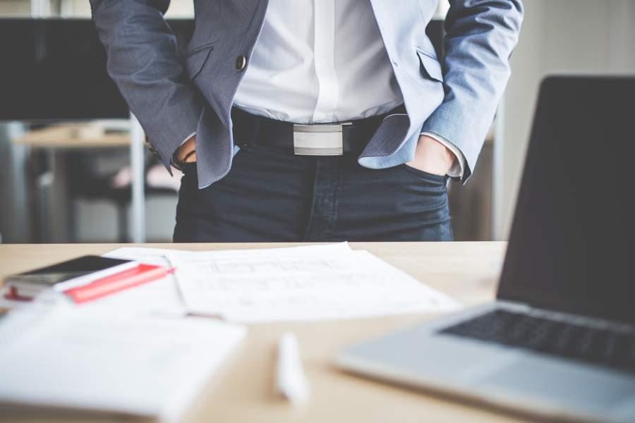 Büro, Manager, Mitarbeiter, Besprechnung, Körpersprache, Erfolg
