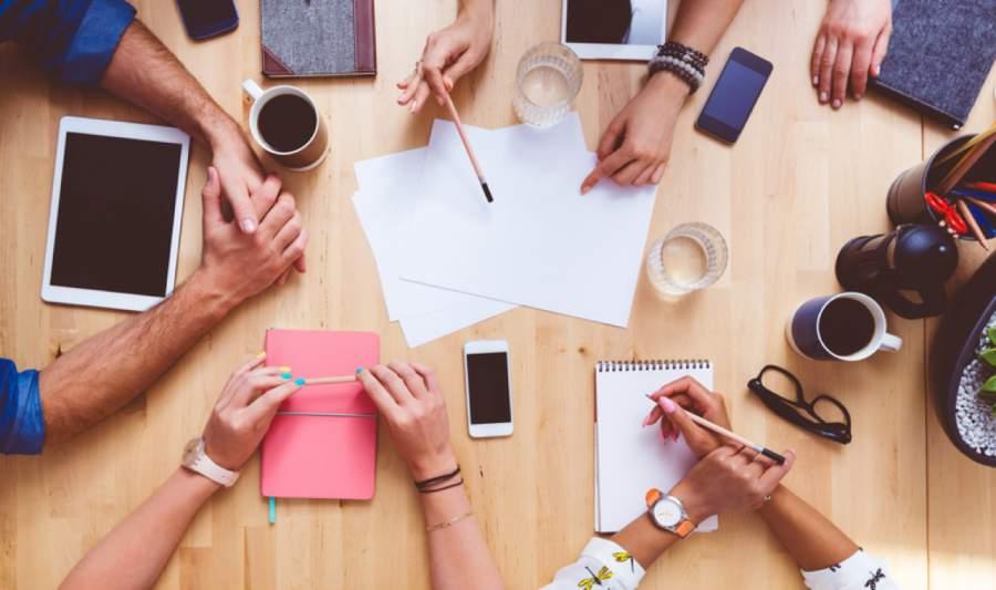 Werbung, Marketing, Meeting, Gespräch,