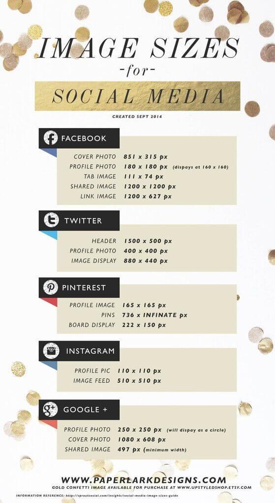 Infografik zum Thema Bilder auf Social Media
