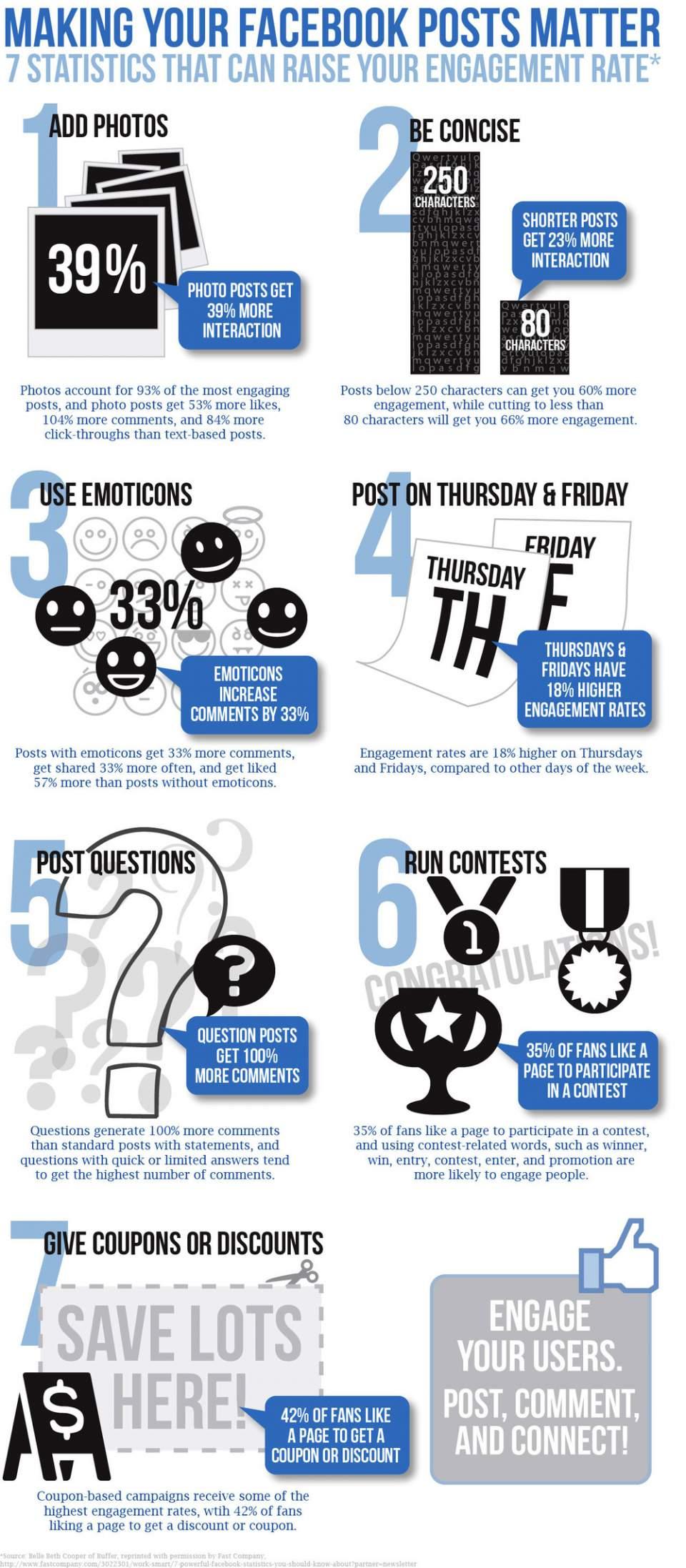 Infografik zum Thema Facebook Engagement Rate erhoehen