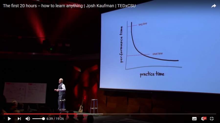 Josh Kaufman, etwas Neues lernen, etwas Neues erlernen, TED Talk, 20 Stunden, 10.000-Stunden-Regel