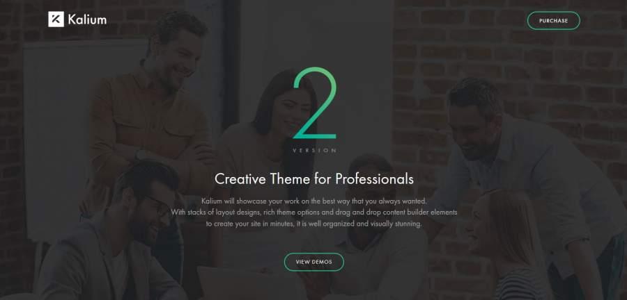 Kalium, Kalium Theme, die besten WordPress Themes für den Sommer 2017, Themeforest, Themes