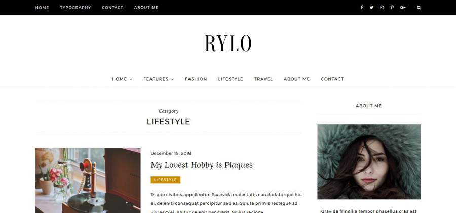 Newsfeed, Rylo WordPress Theme, Rylo