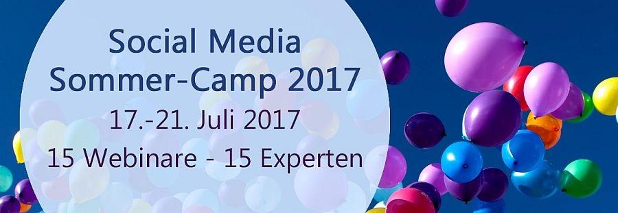 Social Media Sommer-Camp 2017, 17.-21. Juli 2017, Webinare, Internetauftritt