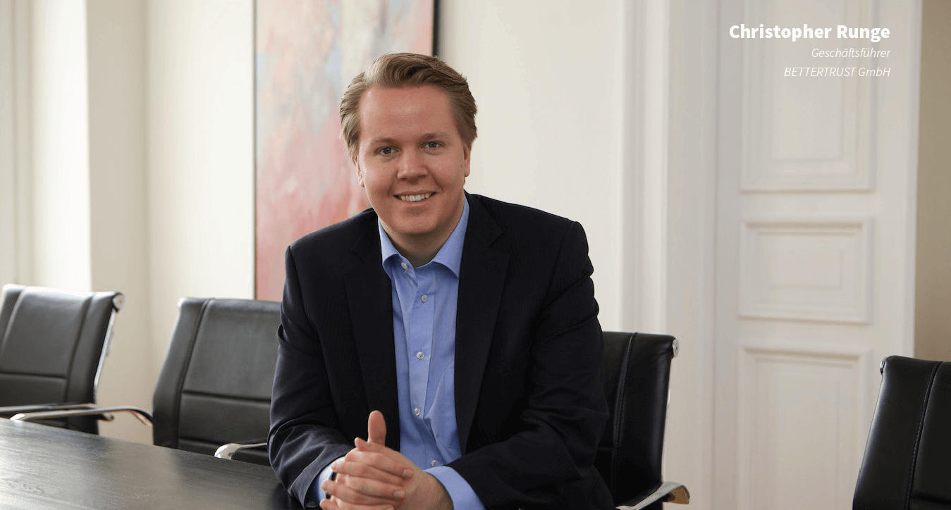 Christopher Runge, Bettertrust, Interview, Profil, Konferenzraum