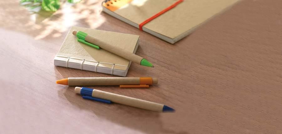 Öko-Kugelschreiber, Öko-Notizbuch, bedruckbare Werbeartikel, individuelle Werbeartikel, Stifte, Kugelschreiber, Notizen, Einfälle, Kreativität