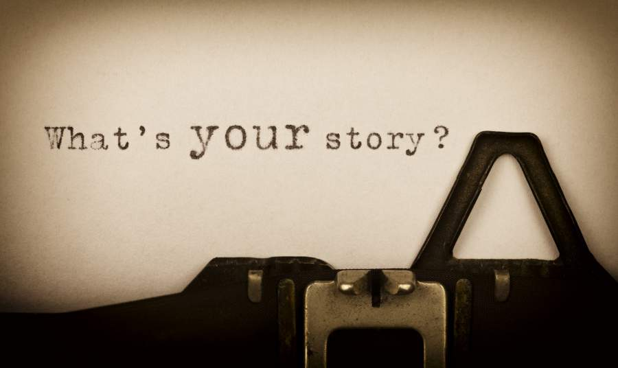 What's your story, Schreibmaschine, alt, erfolgreiches Storytelling im Marketing, Online Marketing, Visuelles Branding, Brand Marketing