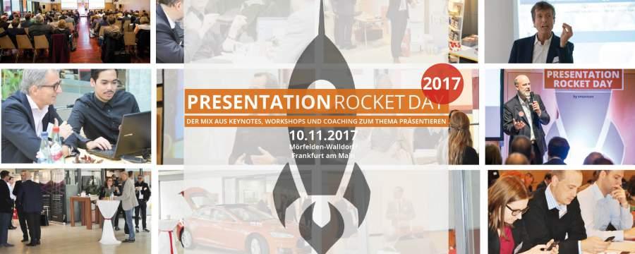 Presentation Rocket Day 2017, Rakete, Vorträge halten, professionell präsentieren lernen, Impressionen, Kongress, Tagung, Vorträge, Workshops, Coaching