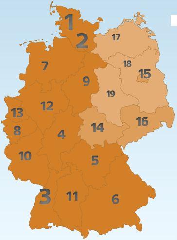 Glücksatlas 2017, deutsche Bunderländer, die Zufriedenheit der Deutschen, Glücklicher sein, glücklich leben