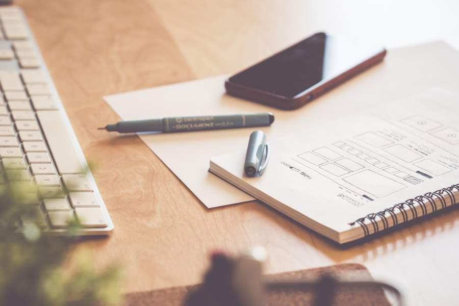Büro, Arbeitsplatz, Schreibtisch, Vorhaben, Vorsätze, Erfolg