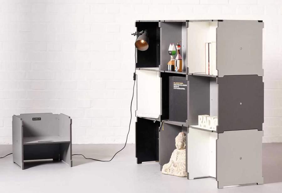 Regal, Raumteiler, CUBELIX, Würfel, Sitzwürfel, flexible Möbel, multifunktionales Möbelsystem