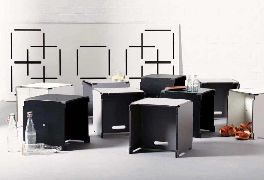 Sitzgruppe, SItzwürfel, casual, Möbel für Unterhaltungen, multifunktionales Möbelsystem