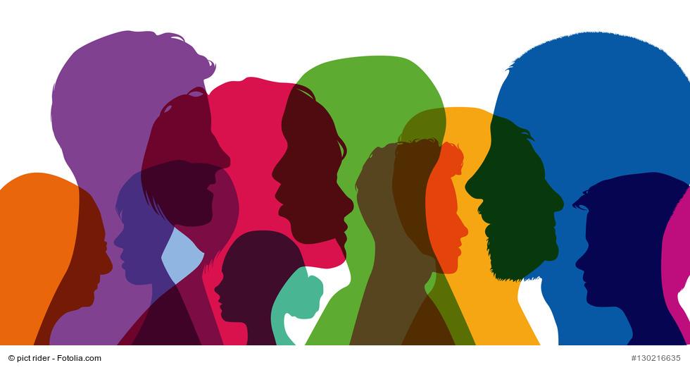 Diversity, Diversity Faultline, bunt, Vielfalt, Silhoutten