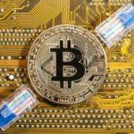 Münze, Kabel, Bitcoin, Online-Handel, Offline-Handel, virtuelle Währung, Kryptowährung, Kryptogeld, Bitcoins