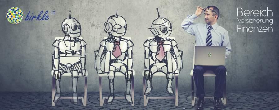 Roboter, KI für Finanzdienstleister, Arbeit erleichtern, Versicherung, Finanzen
