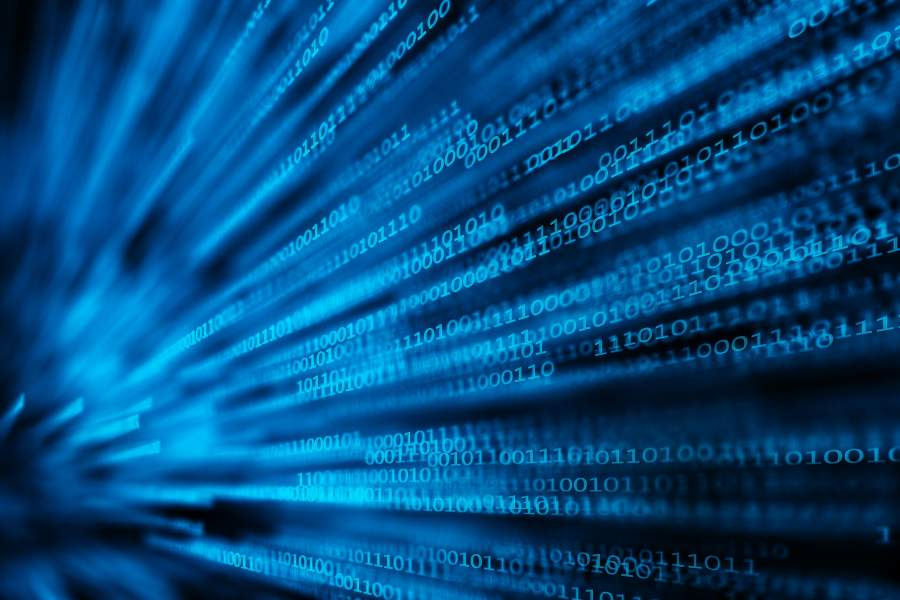Visualisierung digitaler Datenverarbeitung.