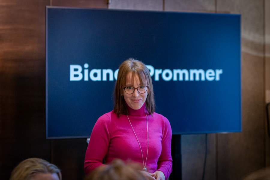 Bianca Prommer im Workshop