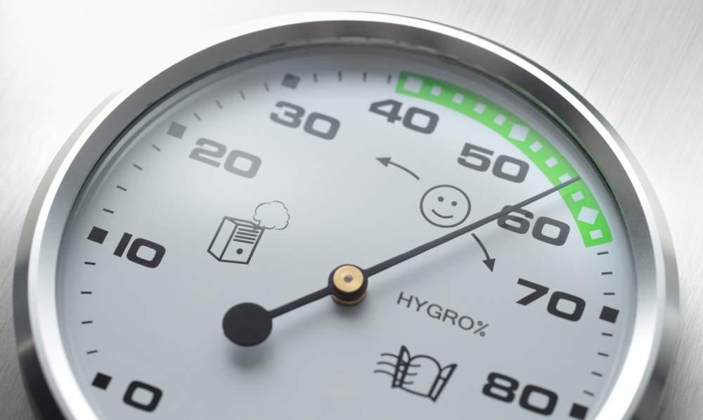 Hygrometer zur Messung von Luftfeuchtigkeit in Räumen